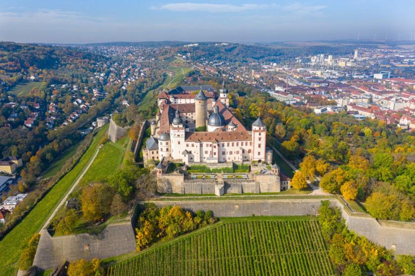 Festung Marienberg Würzburg Luftaufnahmen Drohnenaufnahme